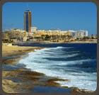 A picturesque rocky beach on the Sliema seafront